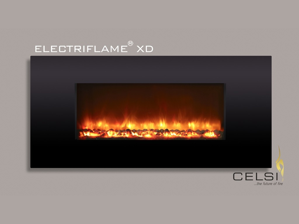 Electriflame XD Piano Black Electric Fire