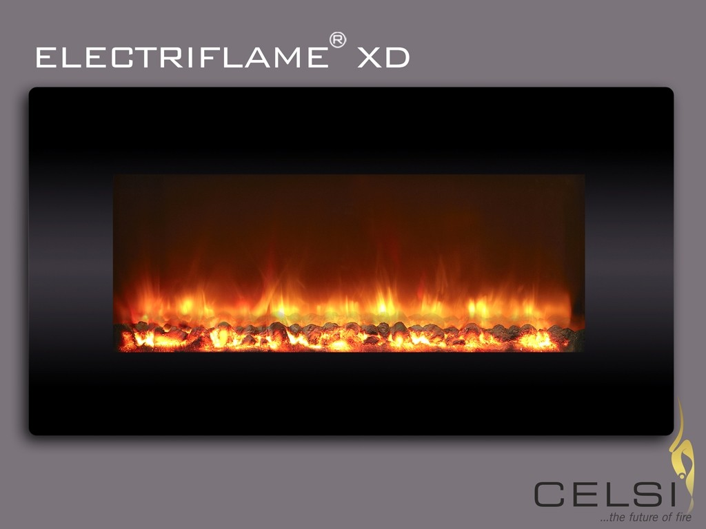 Electriflame XD Black Glass Electric Fire